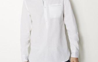 Chemise sans col homme, décontractée et élégante à la fois
