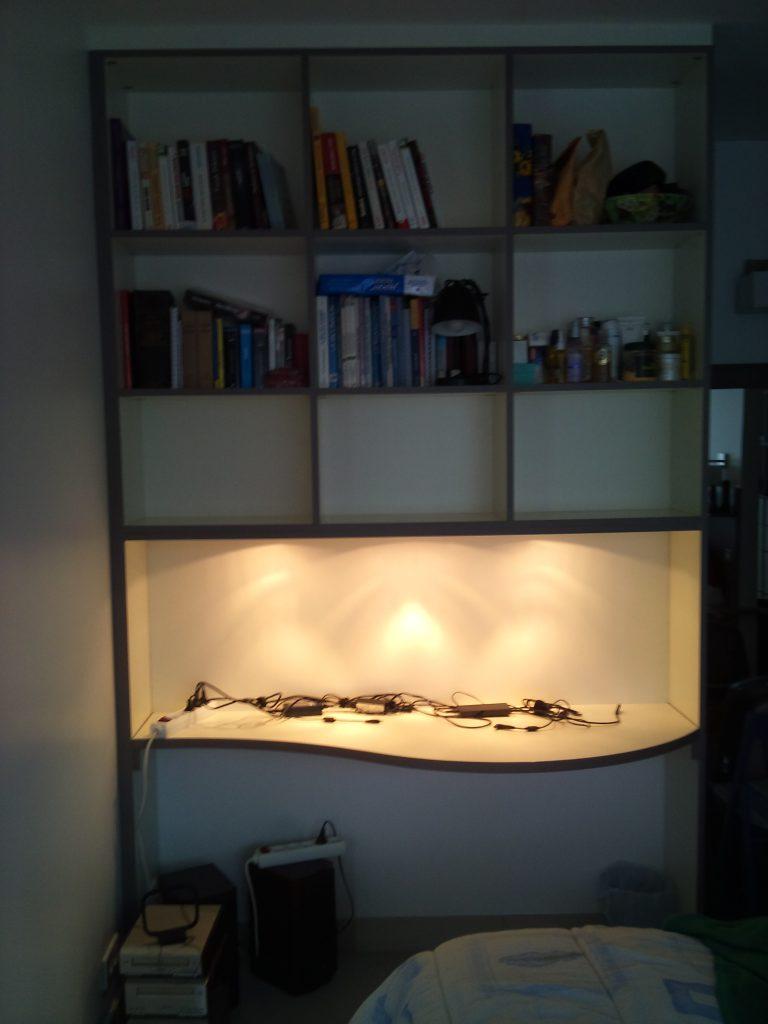 Un bureau sur mesure dans mon atelier